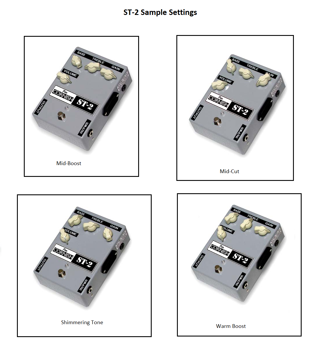 The Pedalboard Wiring Diagram Here Are Some Sample St 2 Settings